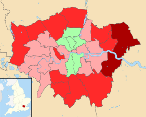 United Kingdom Alternative Vote referendum, 2011 - Results, Greater London UK district