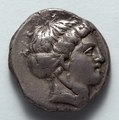 Greece, Metapontum, 4th century BC - Stater- Head of Koré (obverse) - 1916.991.a - Cleveland Museum of Art.tif