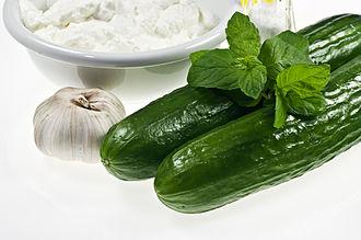 Tzatziki - Main ingredients of Greek style tzatziki