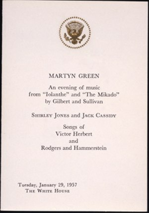 Martyn Green - A programme featuring Green at the White House in 1957