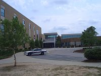 View of the Front Entrance of Green Hope High School