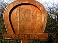 Greetham village sign, designed by a local schoolgirl - geograph.org.uk - 731298.jpg