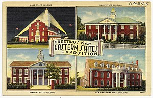 The Eastern States Exposition - The fair promoted on a period post card, ca. 1930-1945