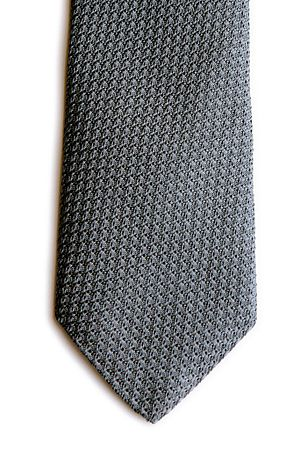Grenadine (cloth) - Tie made with silver color silk in grenadine weave
