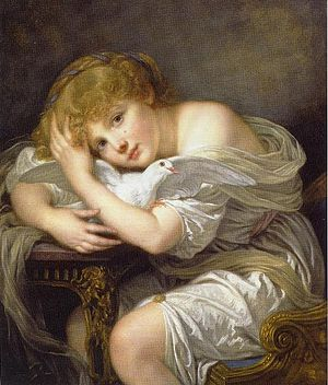 Musée de la Chartreuse de Douai - Image: Greuze Jeune Fille A La Colombre Douai France