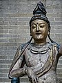 Guanyin Jin or Yuan Dynasty 1115-1234 CE or 1271-1368 CE China wood overlaid with Gesso and Gilt Penn Museum 02.jpg
