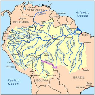 Guaporé River - Image: Guaporerivermap