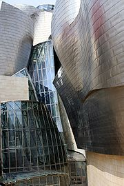 The Guggenheim Museum Bilbao is sheathed in titanium panels.