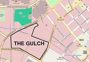 The Gulch (Atlanta) - Location of The Gulch in Downtown Atlanta