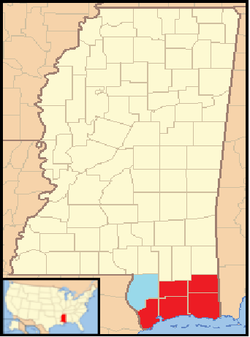 Location of MS Gulf Coast