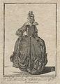 Gustaf IIIs nationella dräkt. Svenska Nationella Fruntimmers Klädedräckten. Ryggvy - Nordiska Museet - NMA.0054236.jpg