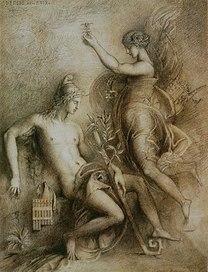 moreau, hesiod, muse, 1857, inspiration