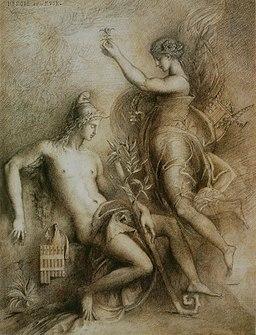 Gustave Moreau - Hésiode et la Muse