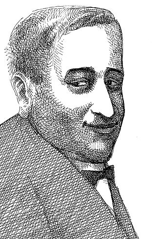 Rodion Markovits - Posthumous portrait of Markovits, drawing by Sándor Muhi