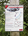 Gyrodactylus salaris info board in Romsdalen, Møre og Romsdal, Norway in 2013 June.jpg
