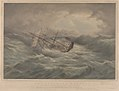 H.M.S. Samarang 26 Guns In a gale crossing the Bay of Biscay on her passage home on the 23rd December 1846 RMG PY0820.jpg