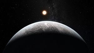 HD 85512 b - Artist's impression of the rocky super-Earth HD 85512 b