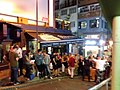 HK 中環 Central 香港蘇豪區 Soho night 依利近街 Elgin Street n 士丹頓街 Staunton Street October 2018 SSG 01.jpg