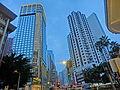 HK CWB 銅鑼灣道 Tung Lo Wan Road evening view Leighton Road Regal Hong Kong Hotel n Lok Sing Centre Nov-2013.JPG