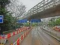 HK CityBus 97 tour view Wong Chuck Hang Road n South Island Line road bridge Apr-2013.JPG