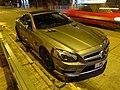 HK SYP Queen's Road West night Benz AMG grey car parking Jan-2016 DSC (3).JPG