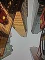 HK Sheung Wan 31 Wing Lok Street evening sky high-rise office buildings Nov-2013 金龍中心 Golden Centre facade Grand Millenium Plaza.JPG