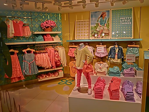 HK TST Harbour City mall shop Children clothing GAP night Apr-2013