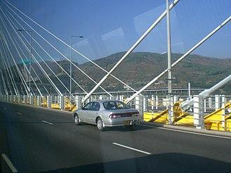 Tsing Long Highway - Tsing Long Highway at Ting Kau Bridge