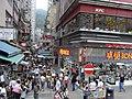 HK Tram tour view Wan Chai Johnston Road Tai Yuen Street new shop Bonjour KFC up-stair restaurant.JPG