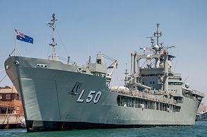 HMAS Kuttabul (naval base) - Image: HMAS Tobruk (L 50)