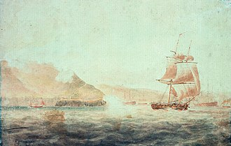 HMS Childers (1778) - Image: HMS Childers (1778) at Brest in 1793