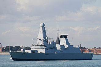 Military of the Falkland Islands - HMS ''Dauntless'', a Type 45 Guided Missile Destroyer.