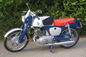 Honda CB series - Image: HONDA CB92 1961 02