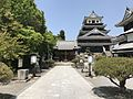 Haiden of Okudaira Shrine and Tenshu of Nakatsu Castle.jpg