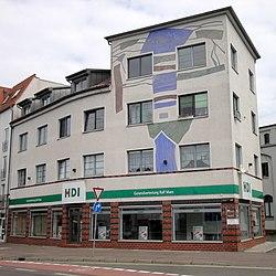 Fassadengestaltung an einem Wohnhaus in Halle-Ammendorf