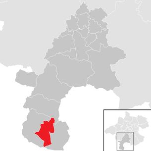 Lage der Gemeinde Hallstatt im Bezirk Gmunden (anklickbare Karte)