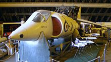 Museum display of a Harrier