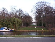 View of Hartekamp from the Leiden-Haarlem canal, with the famous 'Hortus Cliffortianus' or garden of George Clifford in Heemstede as it is today