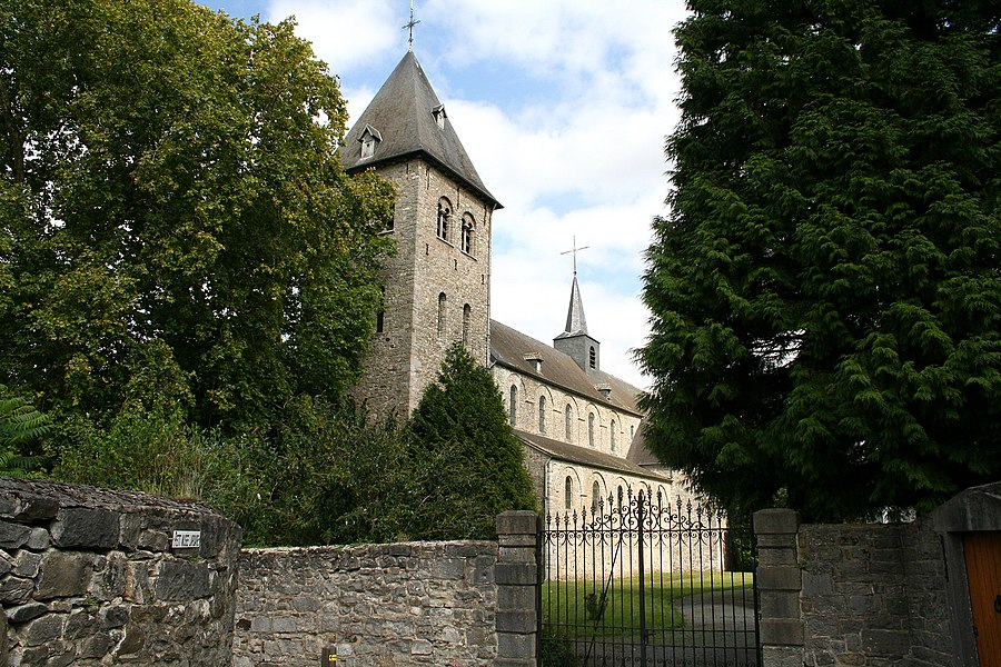 Hastière-par-delà   (Belgium), the St. Hadelin Peter church (1033-1035).