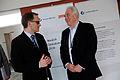 Helgi Hjorvar, Nordiska radets president och och Halldor Asgrimsson, Nordiska ministerradets generalsekreterare pa Nordiskt globaliseringsforum 2010.jpg