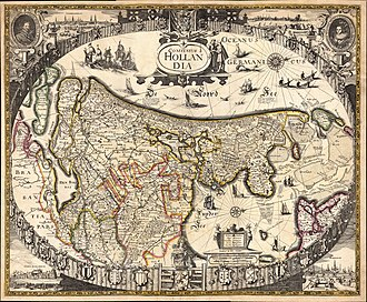 Frederik de Wit - Image: Helmink Antique map of Holland by Anonymous 3rd state by Frederick de Wit 1630