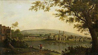 Neath Abbey - A view of Neath Abbey (c. 1800) by Hendrik Frans de Cort