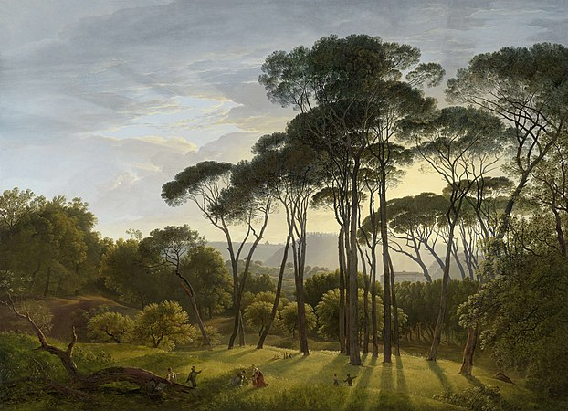 Hendrik Voogd - Italian landscape with Umbrella Pines.jpg