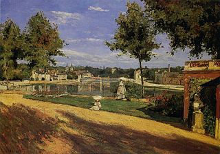 Terrace on the Banks of the Seine at Melun