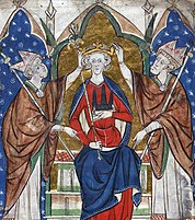 Coronation of King Henry III.  of England, illustration from the 13th century