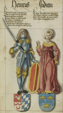 Henry I of Bavaria and his wife Judith.jpg