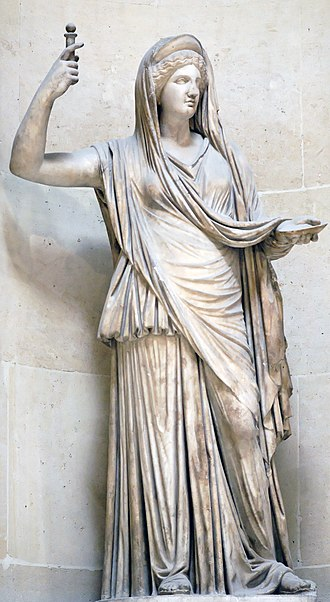 Hera - The Campana Hera, a Roman copy of a Hellenistic original, from the Louvre
