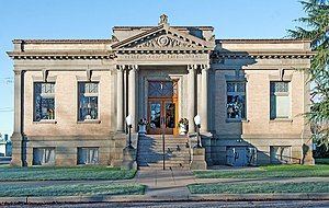 National Register of Historic Places listings in Tehama County, California - Image: Herbert Kraft Memorial Free Library in Red Bluff February 2011