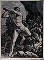 Hercules. Engraving by Chauveau after G. Reni. Wellcome V0035875.jpg