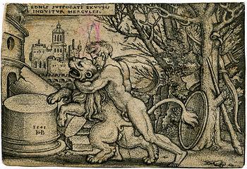 Beham, (Hans) Sebald (1500-1550): Hercules kil...